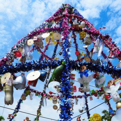 2. Arbolito navideño, Escuela San Vicente de Paul, montaje (4)